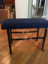 Small vintage black iron bench. in Bolingbrook, Illinois