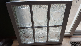 Vintage window upcycled into stainglass in Lockport, Illinois
