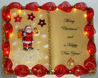 Christmas-Book with lighting and batteries - (with bookstand) Nr. 00014 in Grafenwoehr, GE