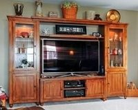 "Broyhill Oak Entertainment Center - Fits 60"" Television in Algonquin, Illinois"