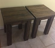New Solid Wood End Tables in Conroe, Texas