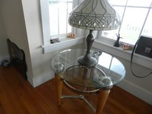 glass-top end table in Camp Lejeune, North Carolina