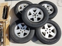 08 jeep wrangler tires and rims in Oceanside, California