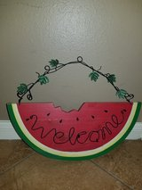 Watermelon welcome hanger in Spring, Texas