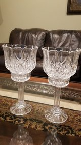 Crystal decor pair candle holders in Joliet, Illinois
