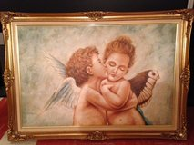 Canvas Print-Angels in Wood Frame in New Lenox, Illinois