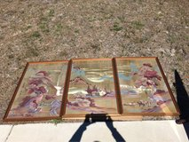 3 Panel framed oriental print artwork in Camp Lejeune, North Carolina
