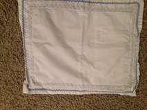 Pottery Barn boys crib skirt and pillowcase in Bartlett, Illinois