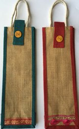 Jute wine bag for Sale in Tinley Park, Illinois
