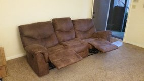 Brown Microfiber Couch in Bellaire, Texas