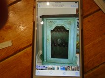 French  cabinet in painted shabby chic teal in Westmont, Illinois
