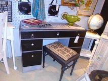 Grey and black painted desk in Westmont, Illinois