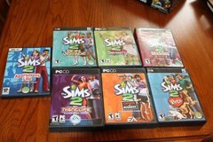 Sims 2, Seven Game Lot - All Complete in Spring, Texas
