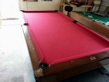 Beautiful Red Pool Table in Baytown, Texas