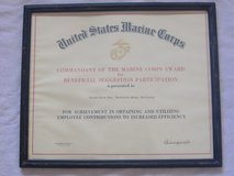 *29 PALMS MARINE BASE AWARD* 1968 Commandant Signed in 29 Palms, California