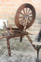 Antique Flax wheel in Tomball, Texas