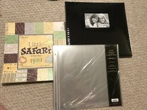 Scrapbook supplies, Album, Baby paper and Extra Sleeves *New* in Lockport, Illinois