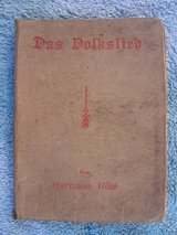 1923 German Song Book in Ramstein, Germany