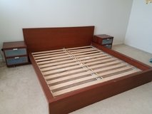 IKEA MALM King Size Bed Frame in Elgin, Illinois