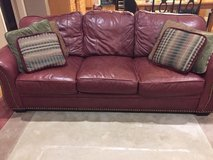 Genuine Leather Couch/sofa in Bolingbrook, Illinois