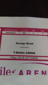 Two George Straight Concert Tickets in 29 Palms, California