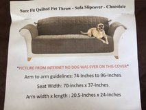 Sure fit Quilted pet couch slipcover in Naperville, Illinois