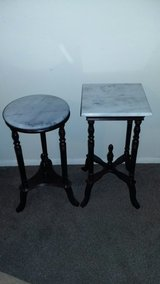 Cherry Red faux Marble top Tables in Rolla, Missouri