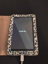 Kindle Fire (1st Gen) WITH Multicolored Cheetah Print Case in Warner Robins, Georgia