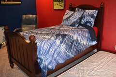 Pottery Barn Youth twin trundle bed, dresser, mattress , box spring, trundle mattress and comf... in Pleasant View, Tennessee