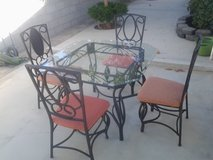 5 piece iron&glass dinette in Yucca Valley, California