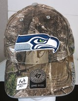 ***** Seattle Seahawks Embroidered Camo Hat (47 Brand REALTREE) ***** in Fort Lewis, Washington