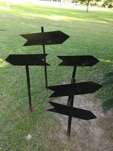 Metal arrow signs (perfect for weddings or other events) in Moody AFB, Georgia