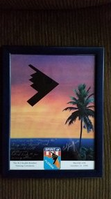 Stealth B-2 Bomber Signed Plaque/Picture in Camp Pendleton, California