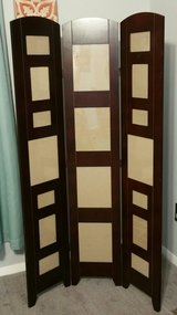 SOLID WOOD ROOM DIVIDER WITH FRAMES in Fort Benning, Georgia