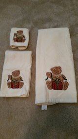 Towel Set Embroidered with Bear Opening Present in Perry, Georgia