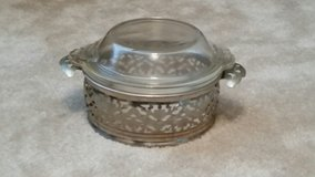 Serving Dish with Lid & Metal Holder in Perry, Georgia