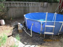Pool 9ft above ground in Conroe, Texas