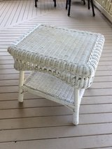 2- Tier Wicker Side Table- Reduced in Beaufort, South Carolina