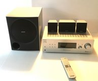 Sony Receiver, Subwoofer, and Speakers for Use with Turntable or HOME THEATRE SYSTEM! in Beaufort, South Carolina