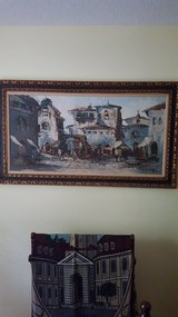 Large antique painting in Fort Rucker, Alabama
