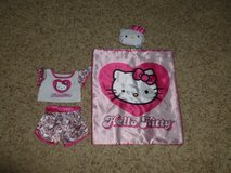 Build a Bear Hello Kitty Bedding Set and Clothing in Bolingbrook, Illinois