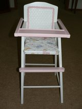Wicker Backed Doll High Chair in Aurora, Illinois