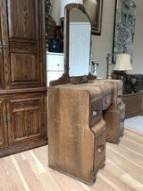 Antique Vintage Waterfall Vanity Dresser (wheels) in Aurora, Illinois