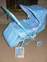 Kolcraft 16177 Sky-Blue Lightweight Carriage Reversible Stroller in Lockport, Illinois