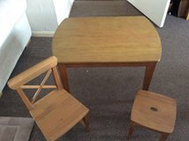 CHILDRENS TABLE, CHAIR & STOOL in Lakenheath, UK