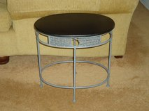 small blk/grey table in Naperville, Illinois