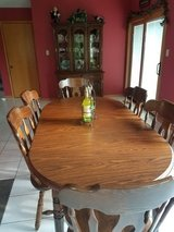Solid oak table, chairs, and China cabinet in Westmont, Illinois