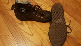 Boys size 4 Converse shoes ONLY WORN A FEW TIMES! in Joliet, Illinois