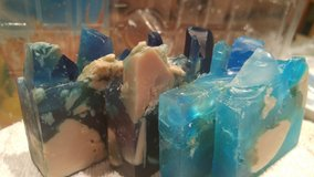 crystal soaps (blue and two color blue and purple) in Aurora, Illinois