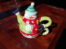 Snowman tea pot and cup in Stuttgart, GE